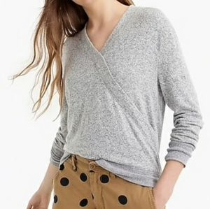 J. Crew Faux Wrap Knit Sweater Top